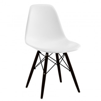 Silla TOW WOOD EAMES DSW - Blanco - BLACK edition