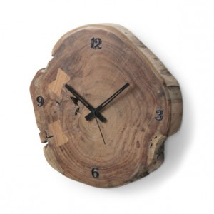 Reloj de pared JOLUGA - madera de Acacia Natural