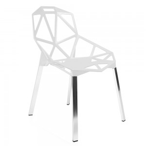 Silla ONE - plástico Blanco - metal