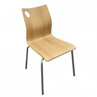 Silla INOXA - madera Natural - metal