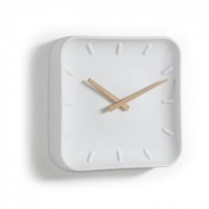 Reloj de pared MARITIM SQUARE - porcelana Blanco