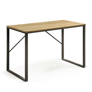 Mesa escritorio LISBET 120x60 - DM Natural - metal Negro