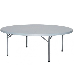 Mesa plegable PARTY 200 - plástico Blanco - metal Gris