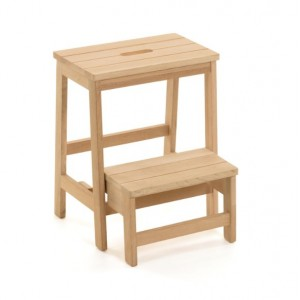 Taburete reposapies BOUIN H50 - madera de roble Natural