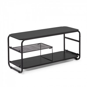 Mueble TV REPUBLIK - metal y madera Negro