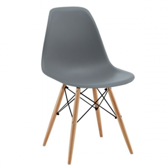 Silla TOW WOOD - Gris antracita