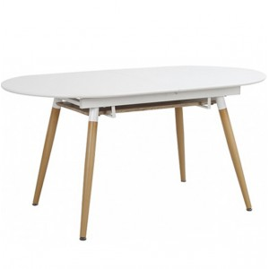 Mesa extensible EIRA 160-200x90 - tablero MDF - Blanco mate