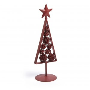 Árbol decorativo XMAS - metal Rojo
