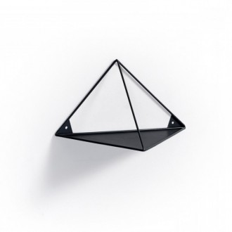 Estantería de pared triangular TRICIO 20x40 - metal Negro