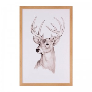 Cuadro DEER FACE 40x60 - marco Roble