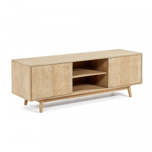 Mueble TV HAMBURGO 160x56 - madera de mango Natural