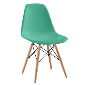 Silla TOWER WOOD - Azul turquesa - DSW Style