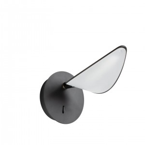 Aplique de pared DUNCAN - metal Negro
